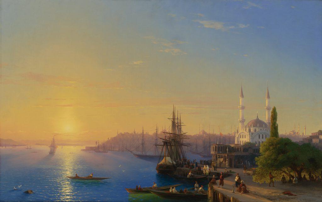 Айвазовский - Вид на Константинополь и Босфор