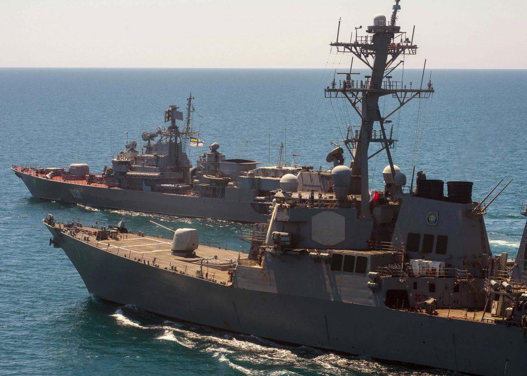 Украинский военный корабль фрегат Гетман Сагайдачный