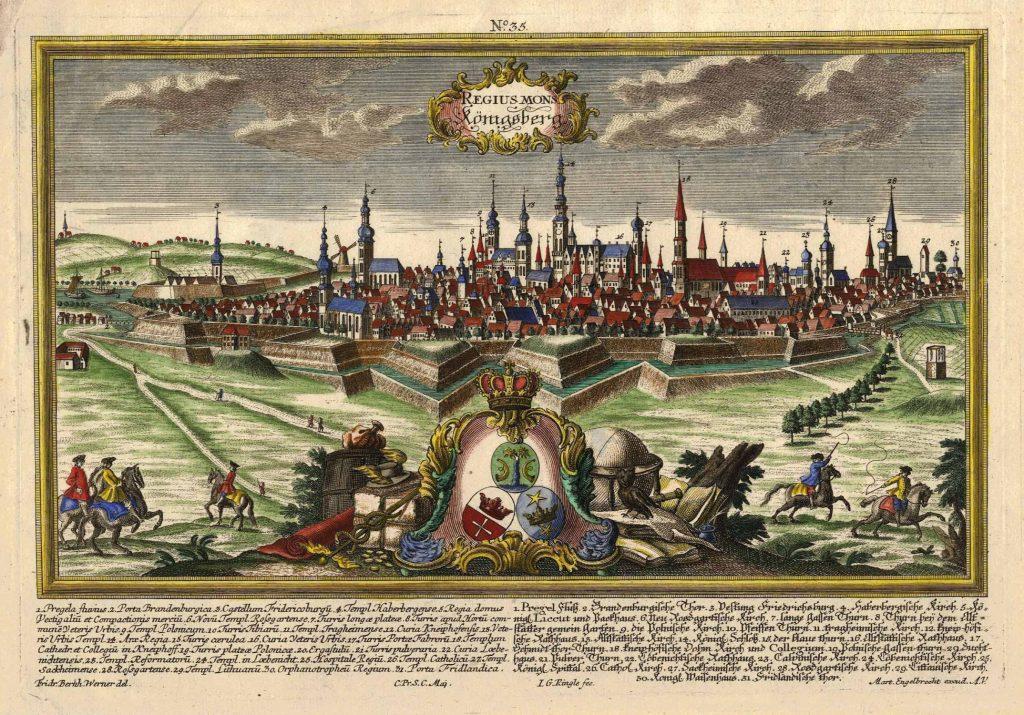 Вид Кенигсберга гравюра