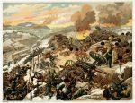 Литография Последние дни Порт-Артура
