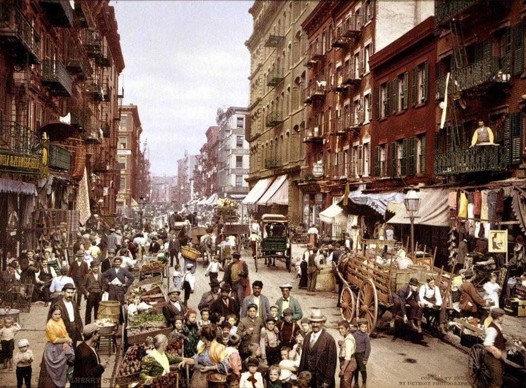Старое фото Нью-Йорка 1900 года
