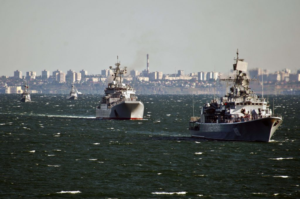 Фото фрегата ВМС Украины «Гетьман Сагайдачный»