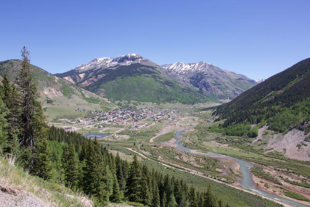 Американский пейзаж - город Сильвертон в Колорадо