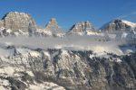 Швейцарские Альпы фото с воздуха