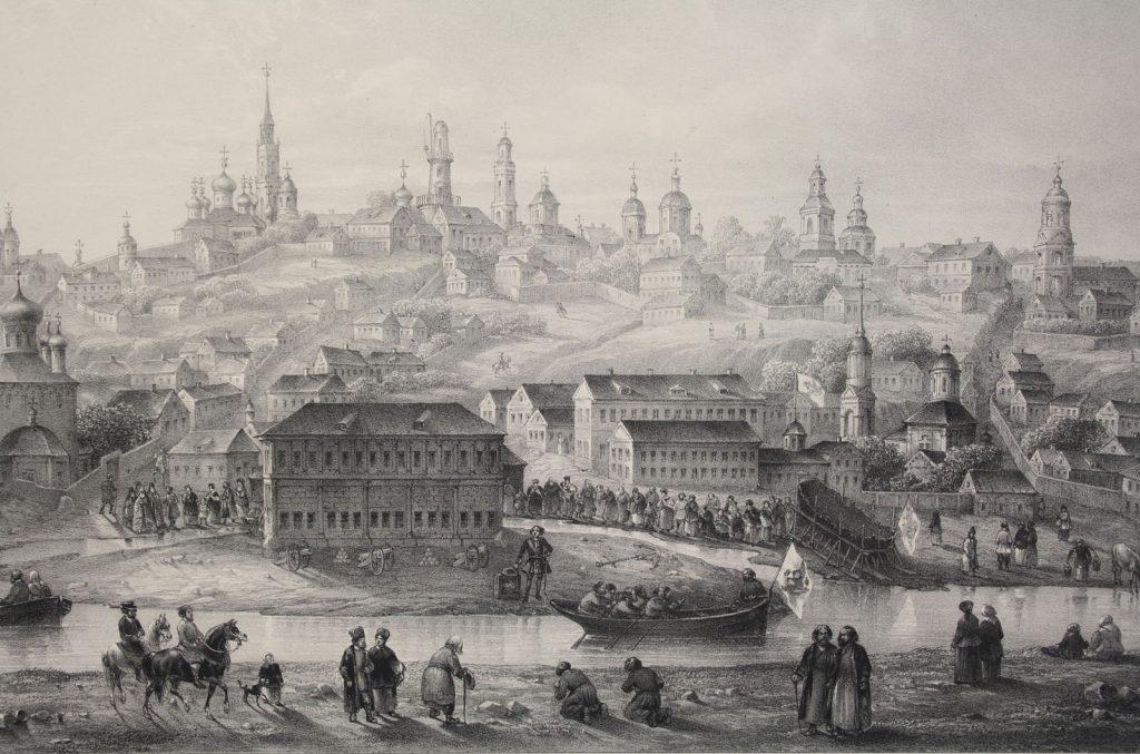 Гравюра Воронежа 18 века
