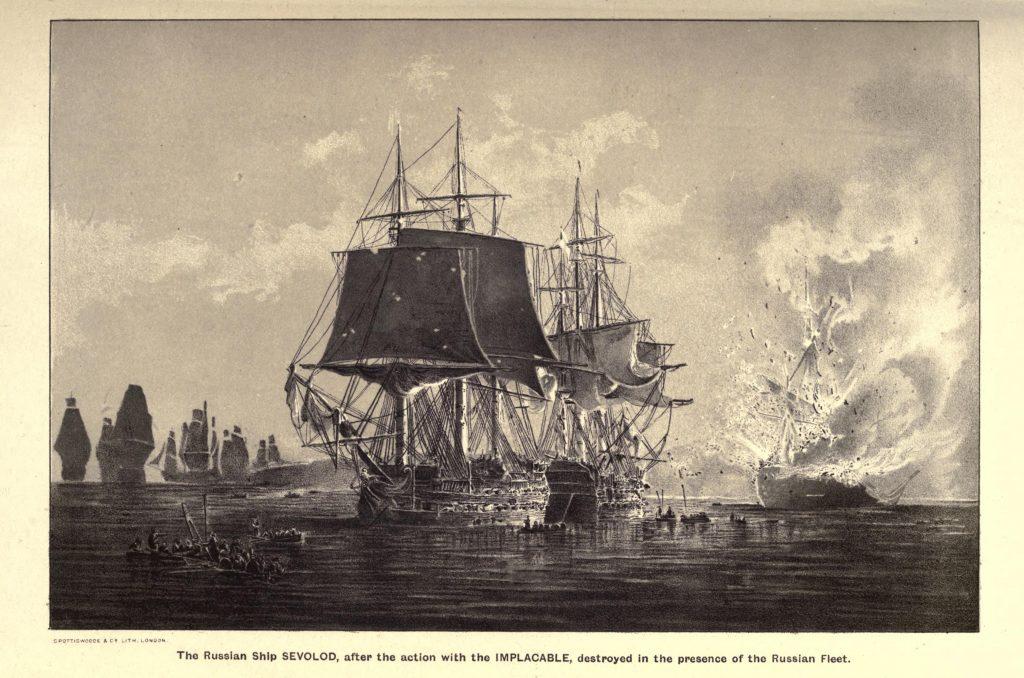 Морской бой времен Русско-английской войны 1807–1812 года