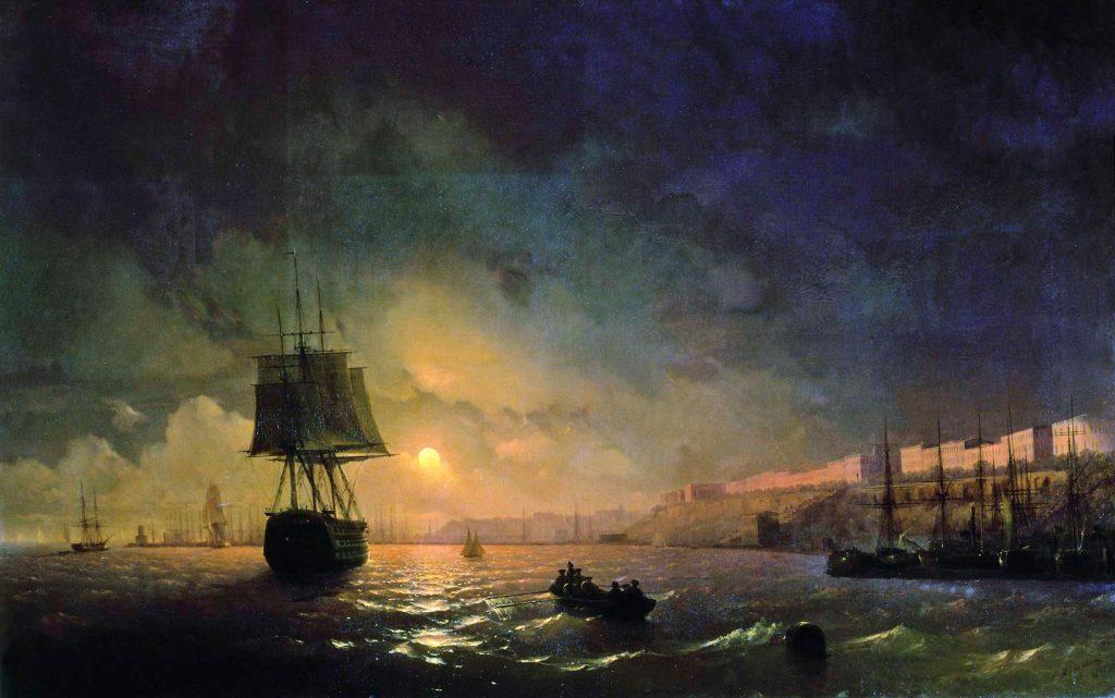 Айвазовский - картина Луна над Одессой