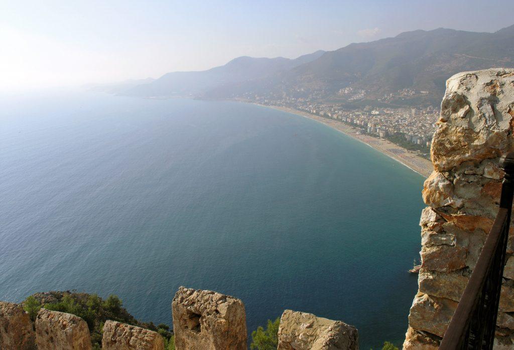 Пляж Клеопатры, Аланья, вид с крепостной горы