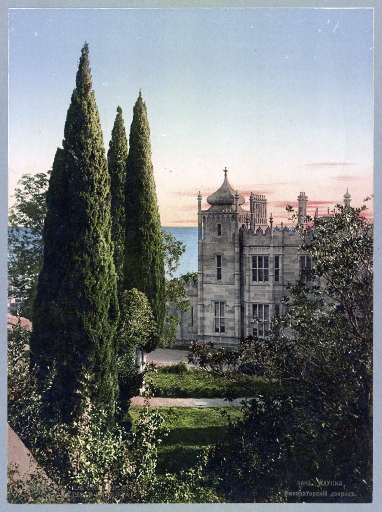 Крым Алупка - императорский дворец - ретро фото начала 20 века