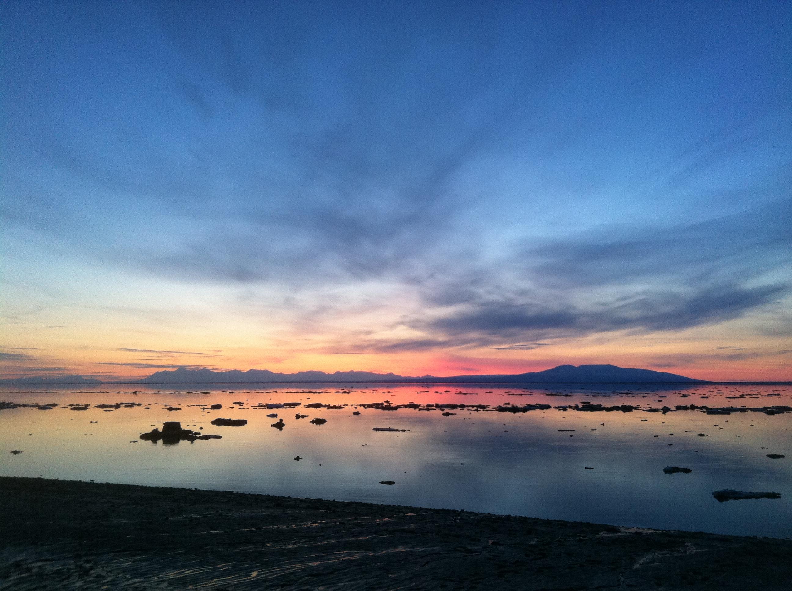 Закат на Аляске фото