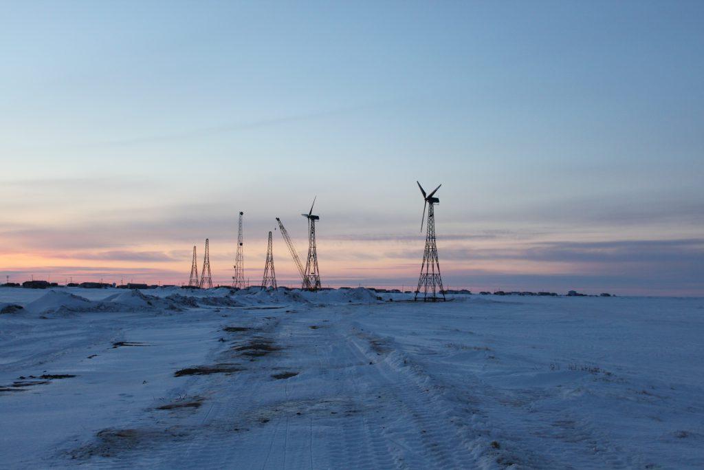 Фото ветряков на Аляске, США