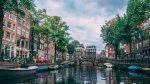 Фото канала в Амстердаме, Нидерланды