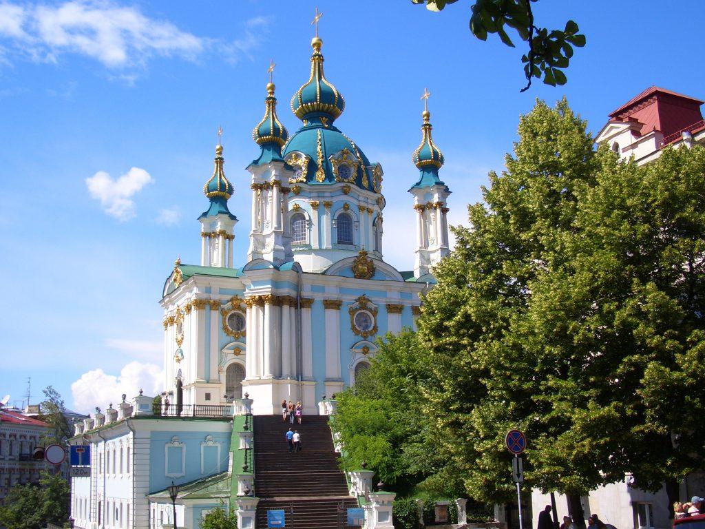 Андреевская церковь в Киеве фото