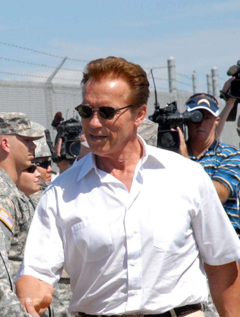 Американский актер Арнольд Шварценеггер, губернатор Калифорнии