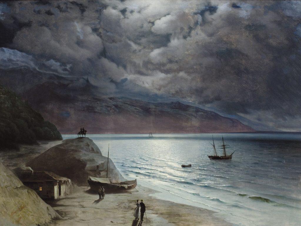 Иван Айвазовский - Ночь в Гурзуфе, Крым, 1891 год