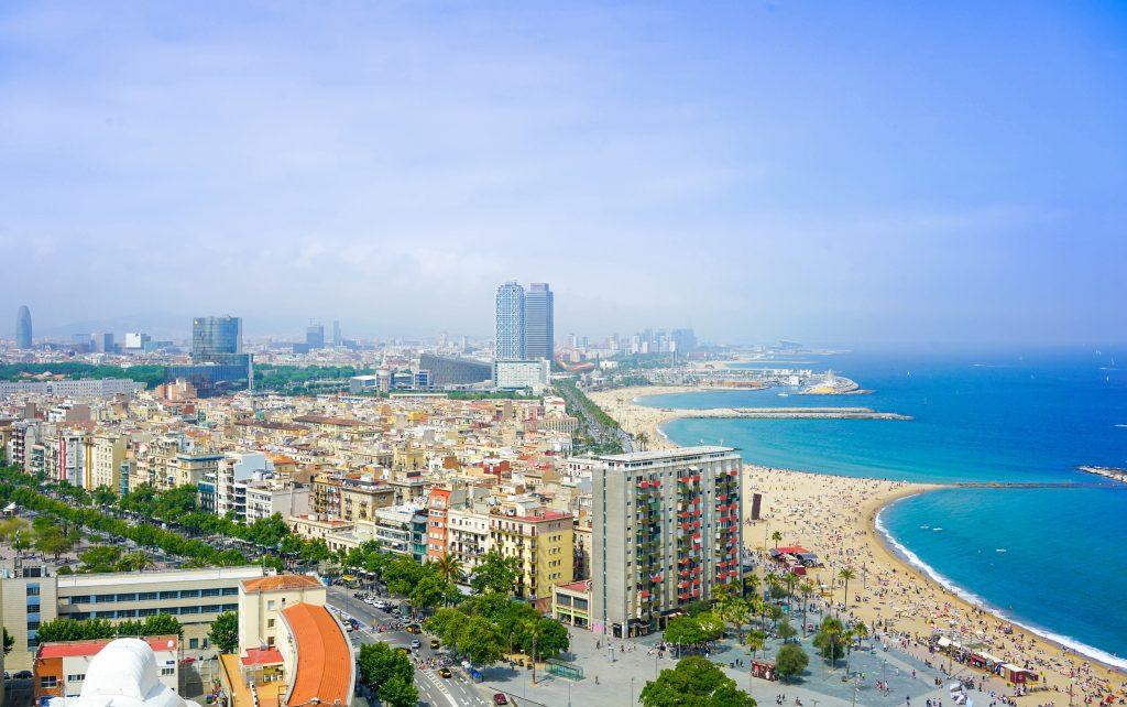 Барселона пляж стоковое фото