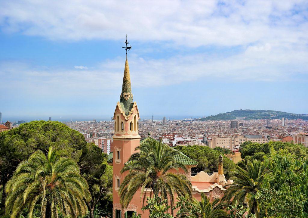 Барселона панорама города