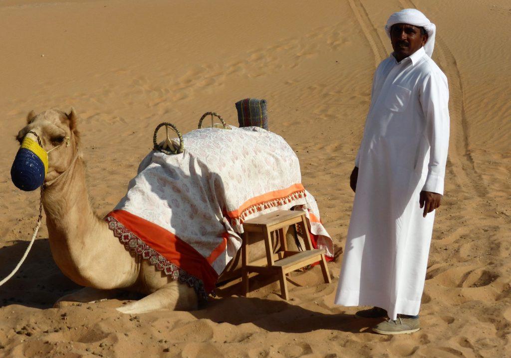 Арабские Эмираты - бедуин и верблюд