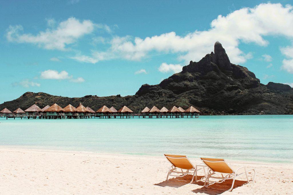 Французская Полинезия - пляж острова Бора Бора