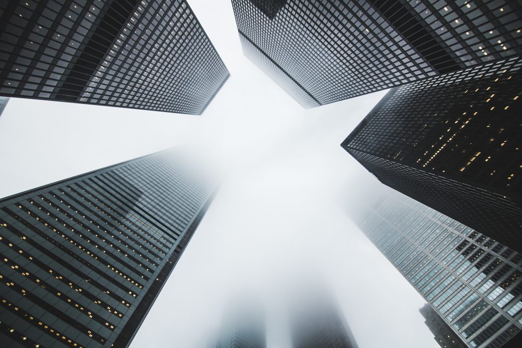 современная архитектура небоскребы стоковое фото