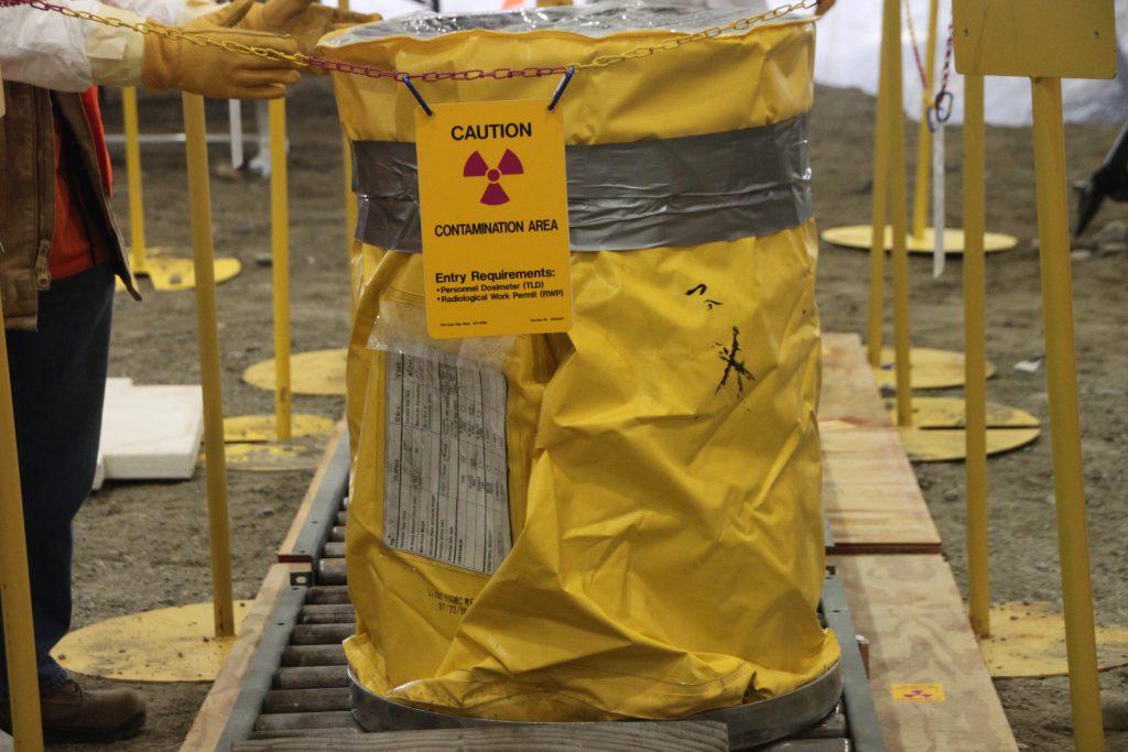 Осторожно радиация. Радиоактивная бочка