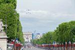 Бульвар Елисейские поля в Париже во время праздника
