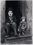 Актер немого кино Чарли Чаплин - ретро фото