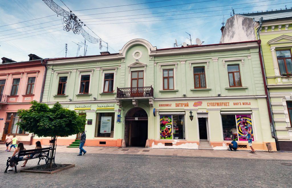 Черновцы пешеходная улица Кобылянской