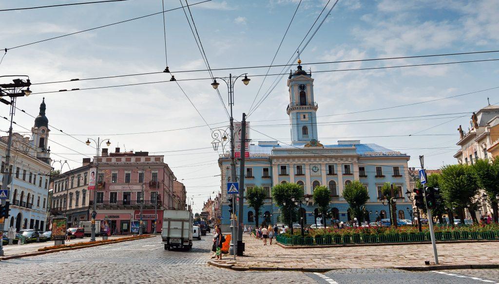 Черновцы Центральная площадь
