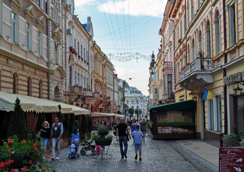 Центральная пешеходная улица Черновцов