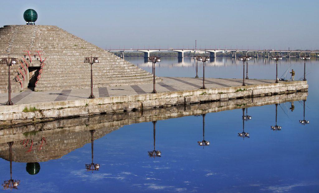 Фото моста через Днепр в Днепропетровске