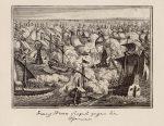 Гравюра, Фрэнсис Дрейк побеждает испанцев в морском сражении