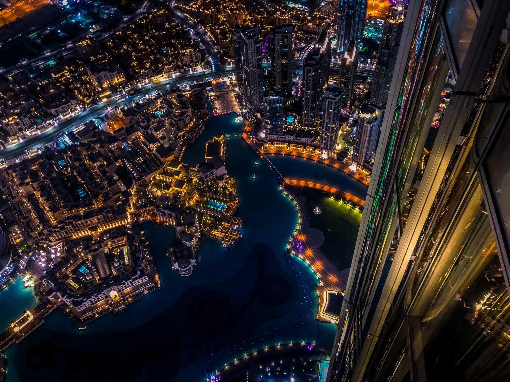 Фото с Башни Халифы в Дубае - Бурдж-Халифа