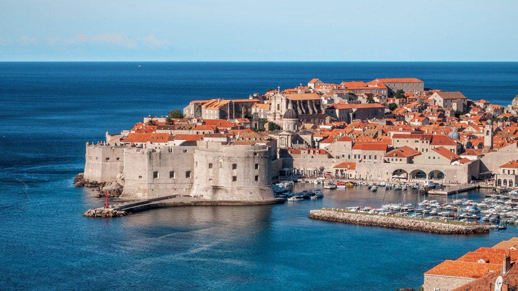 Центр города Дубровник в Хорватии