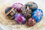 Разукрашенные пасхальные яйца - православная Пасха
