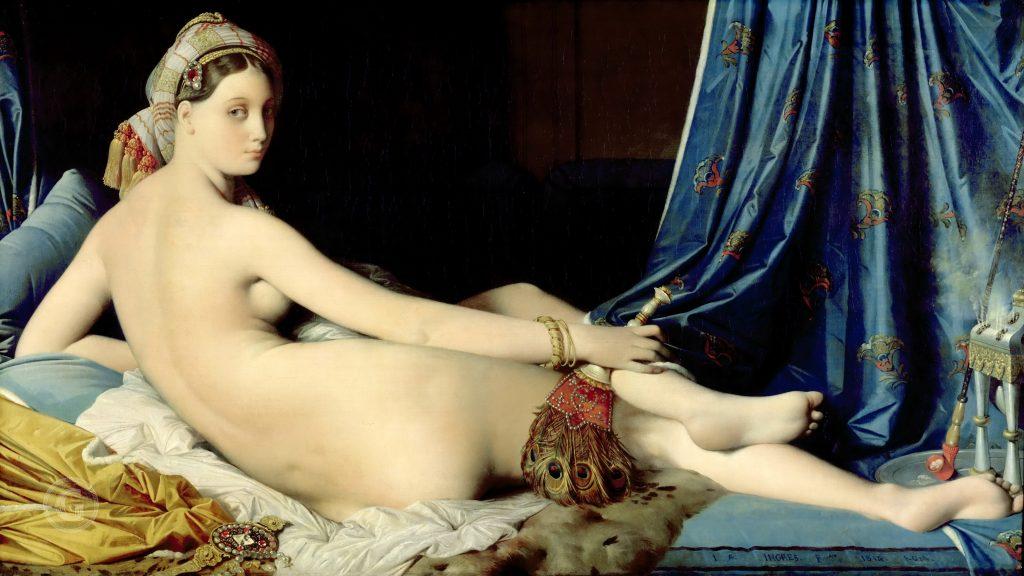 Жан Энгр - Большая одалиска, картины Лувра