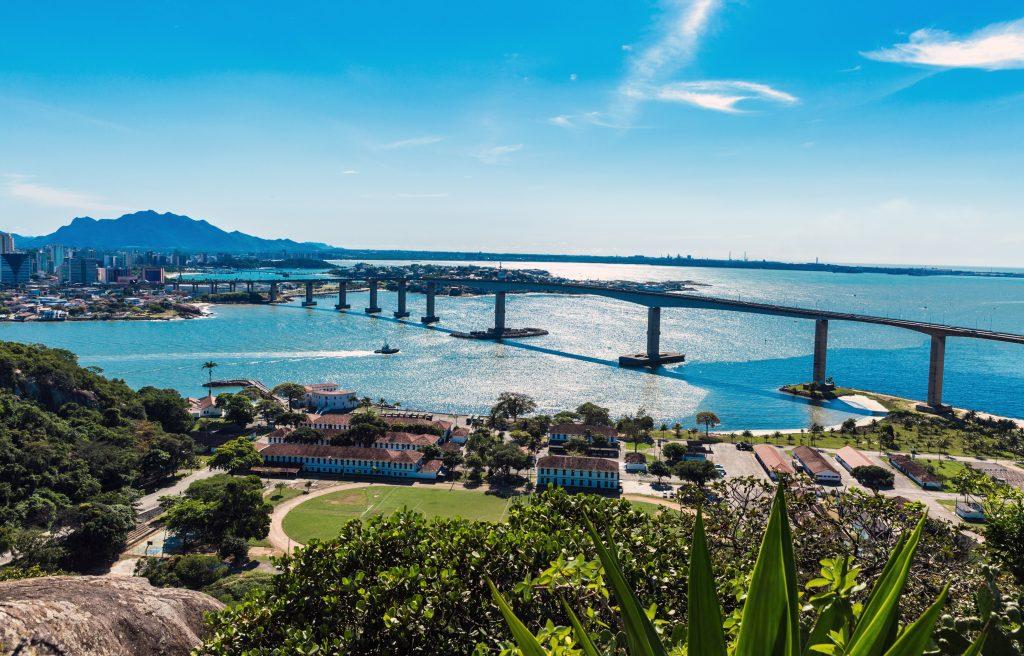 Город Витория, штат Эспириту-Санту в Бразилии