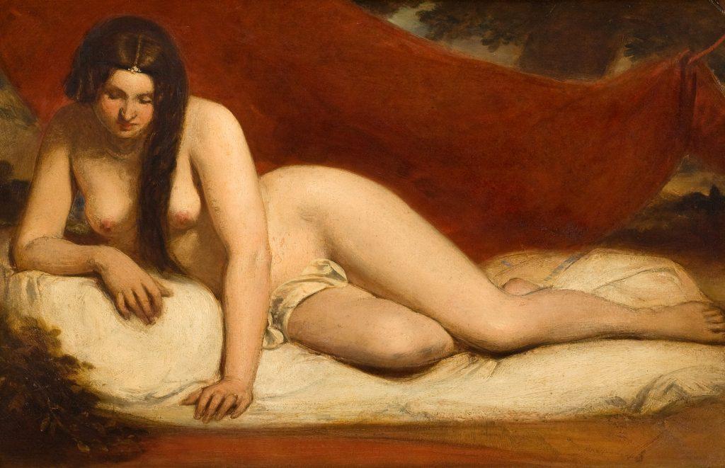 Картина Этти Уильяма лежащая обнаженная. 19 век