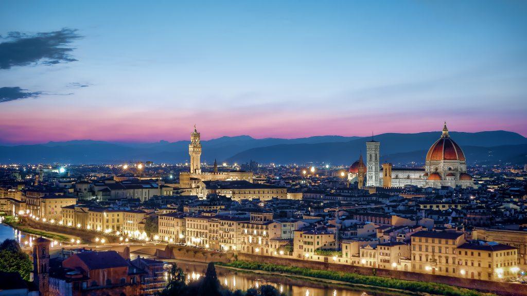 Закат в Флоренции фото