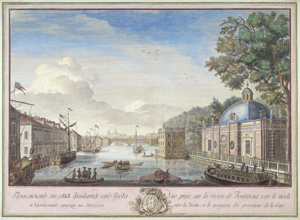 Качалов Григорий - река Фонтанка, гравюра