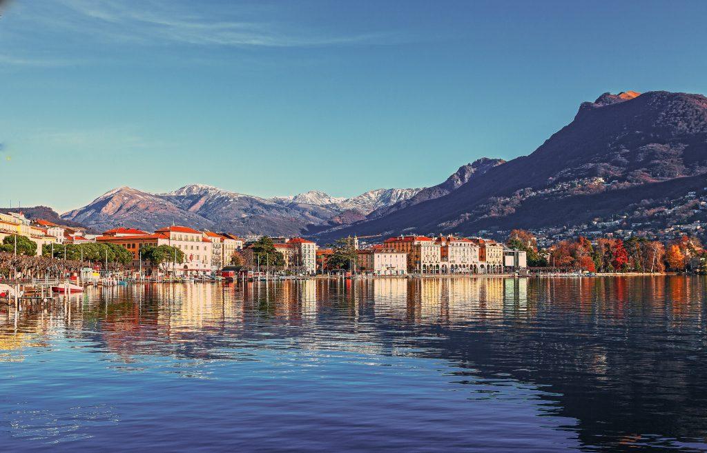 Женева и Женевское озеро стоковое фото