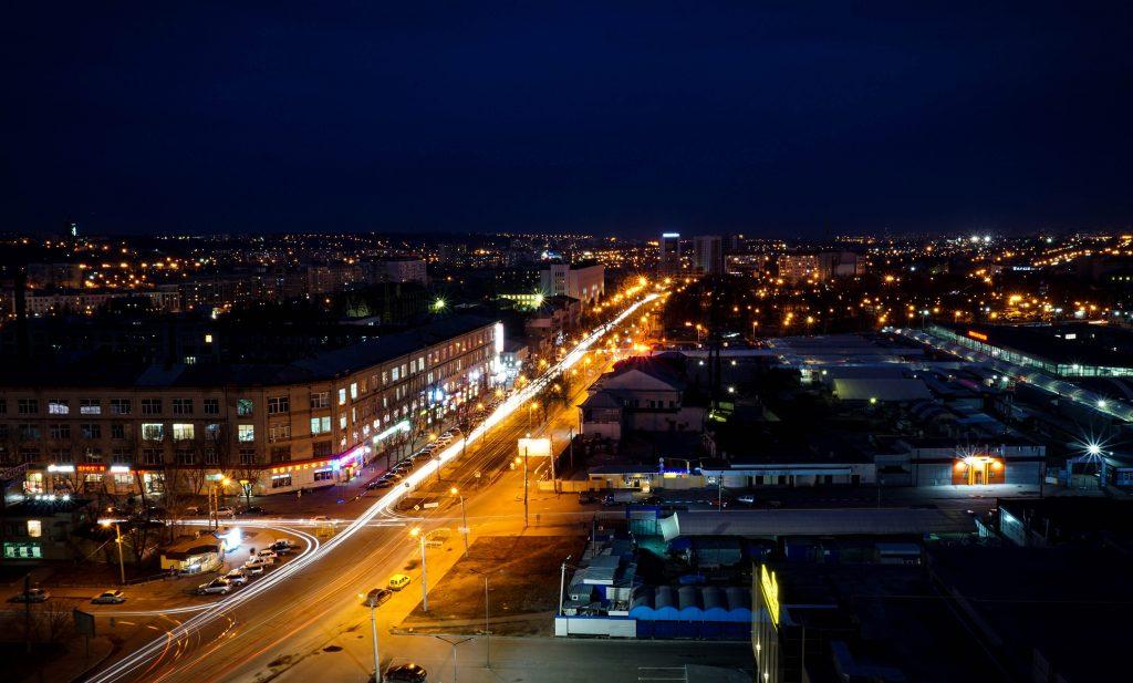 В центре Харькова ночью