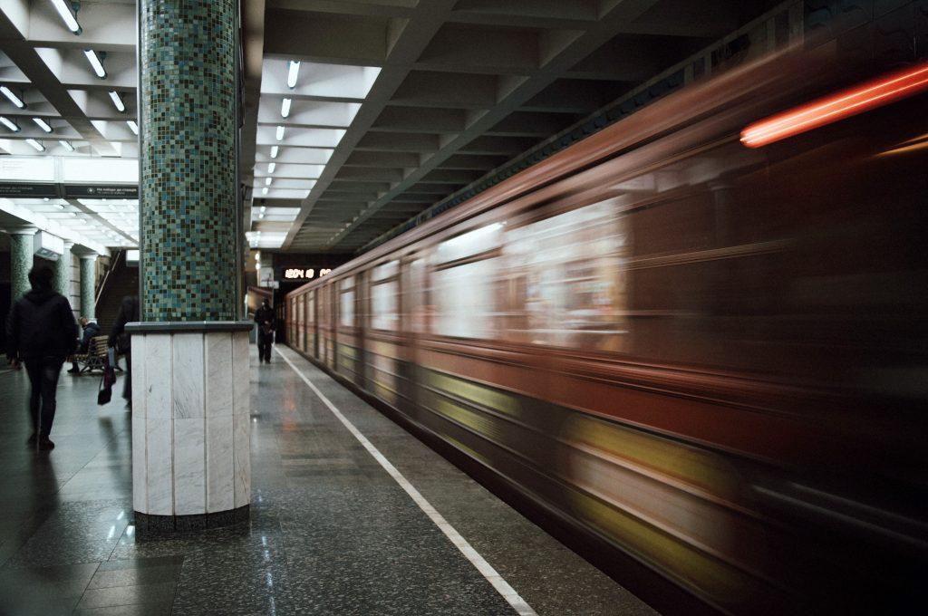 Харьковское метро - на платформе