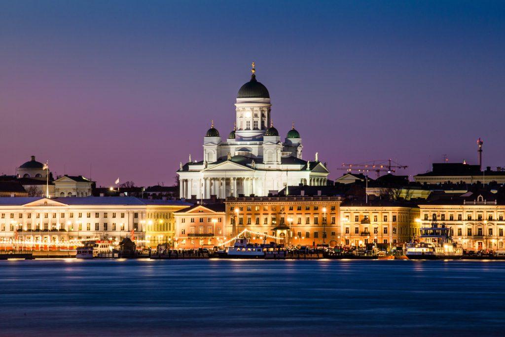 Фото центра Хельсинки с моря