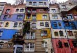 Дом Хундертвассера, фасад необычного здания