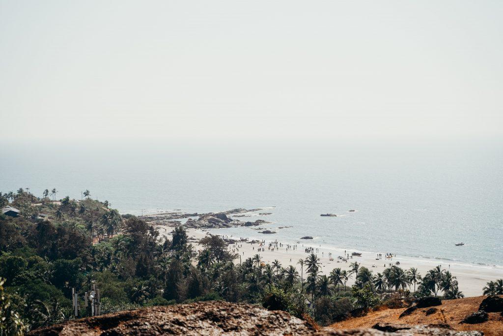 Фото пляжа на Гоа в Индии