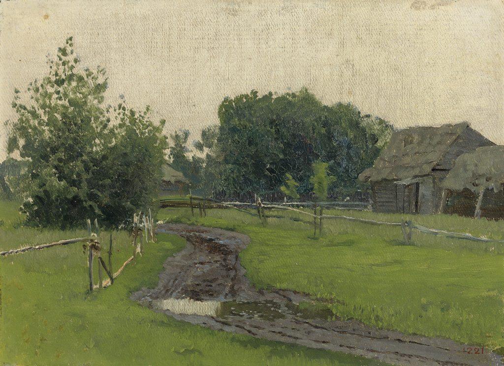 Картина Левитана Сельская дорога