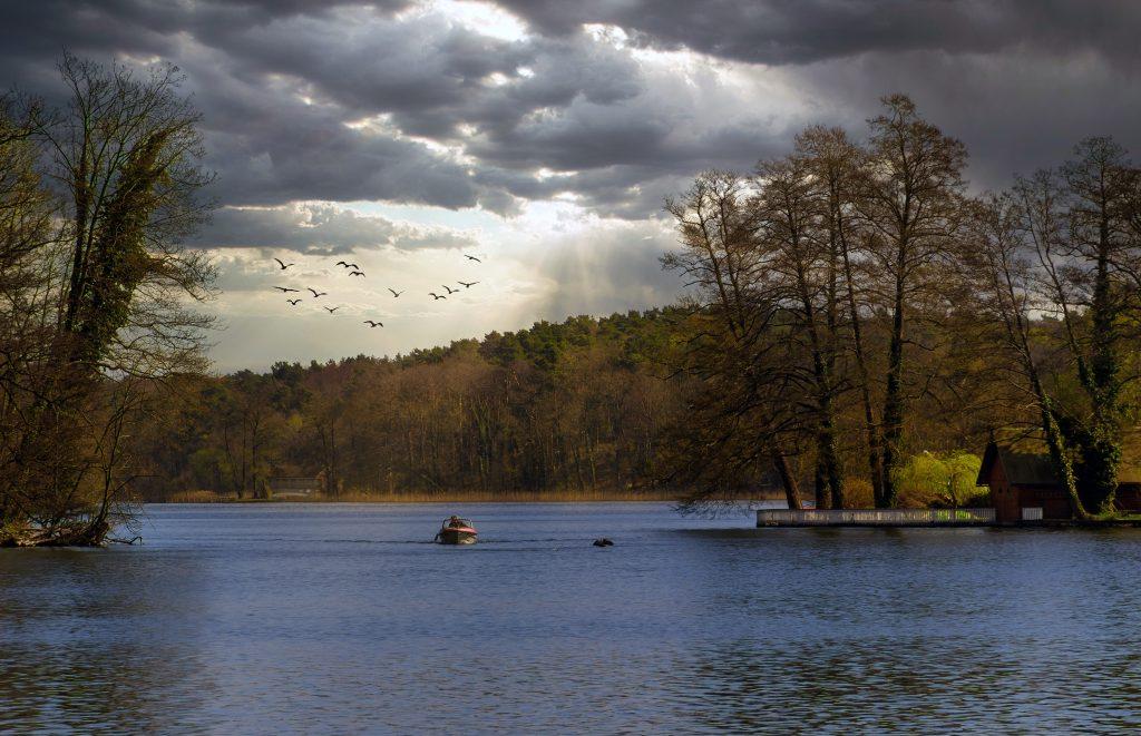 Ивано-Франковск - городское озеро и парк