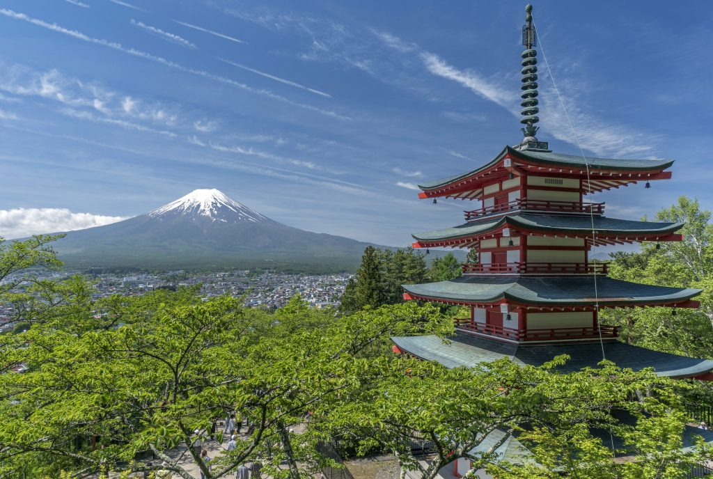 Кавагутико - вид на гору Фудзи