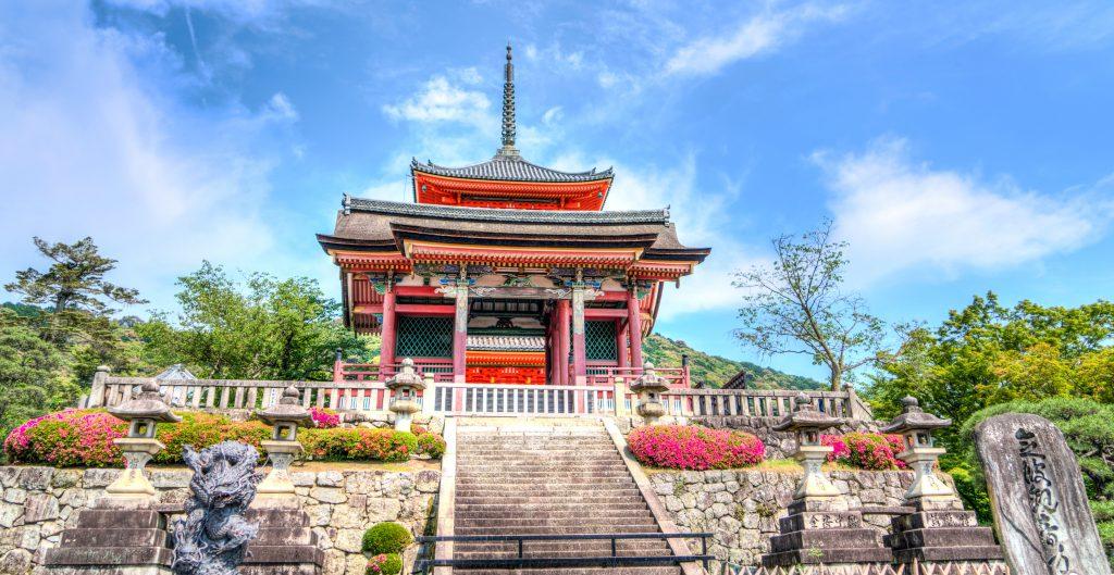 Японский синтоистский храм в Киото